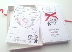 Anketos vestuvių svečiams VA1. <strong>0,8 €</strong>