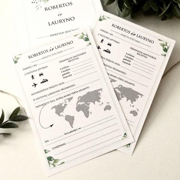 Anketos vestuvių svečiams VA102