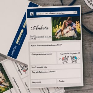 Anketos vestuvių svečiams VA23. <strong>0,6 €</strong>