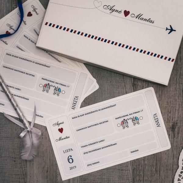 Anketos vestuvių svečiams VA76