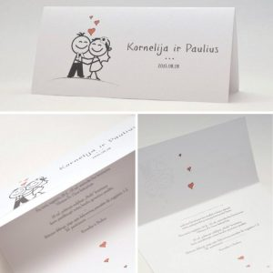 Vestuviniai kvietimai VK40. <strong>0,99 €</strong>