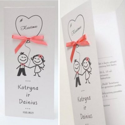 Vestuviniai kvietimai VK44