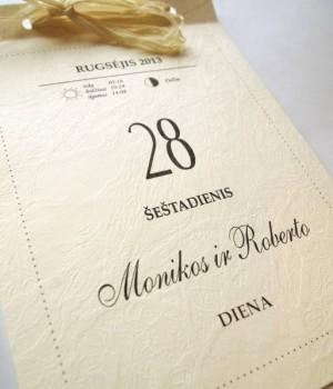 Vestuviniai kvietimai VK34. <strong>1,6 €</strong>