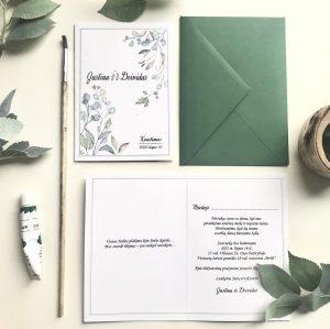 Vestuviniai kvietimai VK103. <strong>1,5 €</strong>