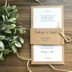 Vestuviniai kvietimai VK112. <strong>1,7 €</strong>