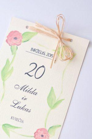 Vestuviniai kvietimai VK50. <strong>1,6 €</strong>