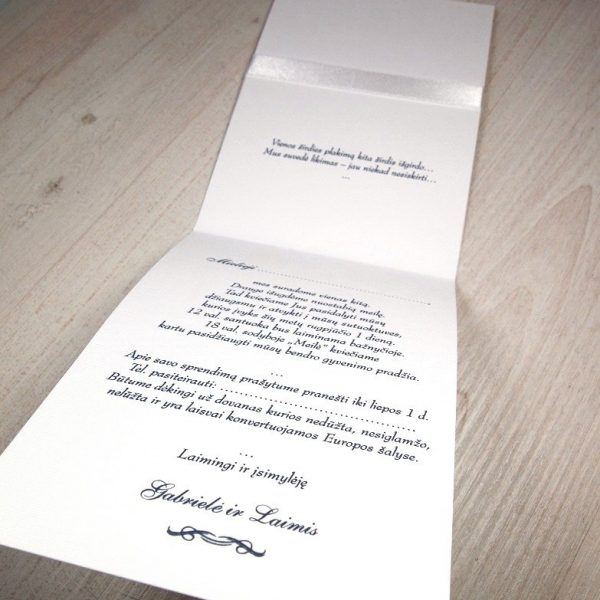 Vestuviniai kvietimai VK73