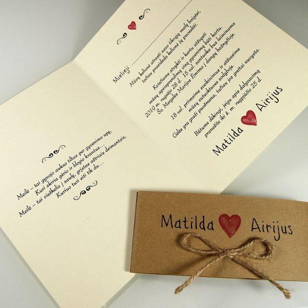 Vestuviniai kvietimai VK81
