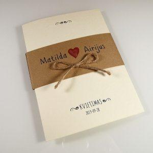 Vestuviniai kvietimai VK81.  <strong>1,7 €</strong>