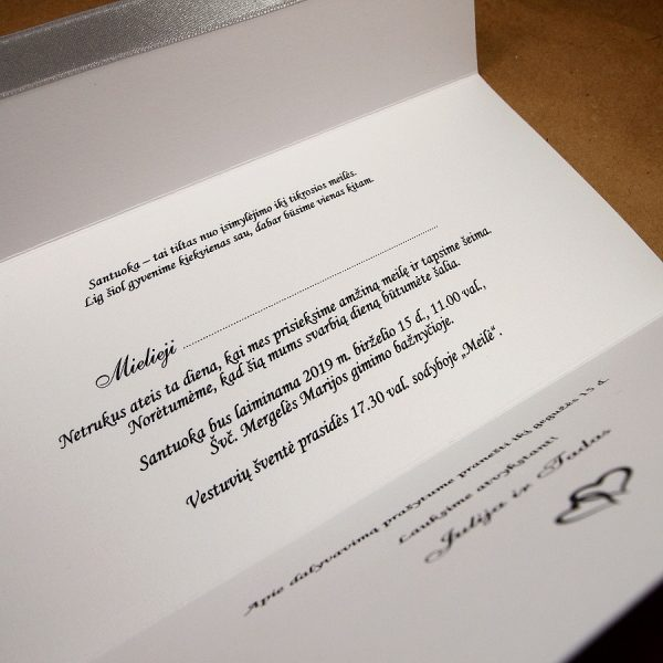 Vestuviniai kvietimai VK82