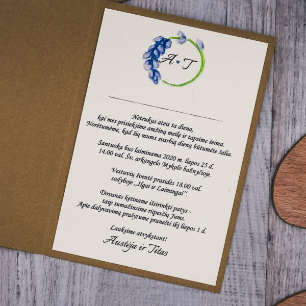 Vestuviniai kvietimai VK93