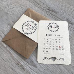 Vestuviniai kvietimai VK95. <strong>1,6 €</strong>