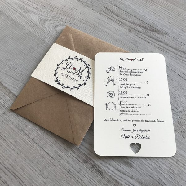 Vestuviniai kvietimai VK95
