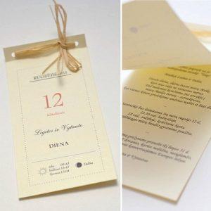 Vestuviniai kvietimai VK41. <strong>1,6 €</strong>