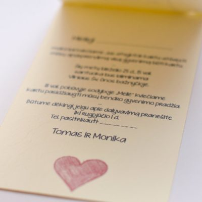 Vestuviniai kvietimai - VK62