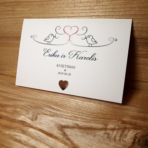 Vestuviniai kvietimai VK58. <strong>1 €</strong>